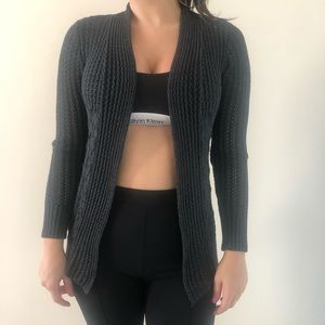 Dark gray knitted cardigan